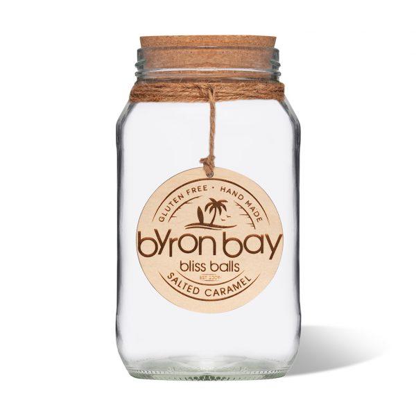 Byron Bay Bliss Balls jar empty Salted Caramel