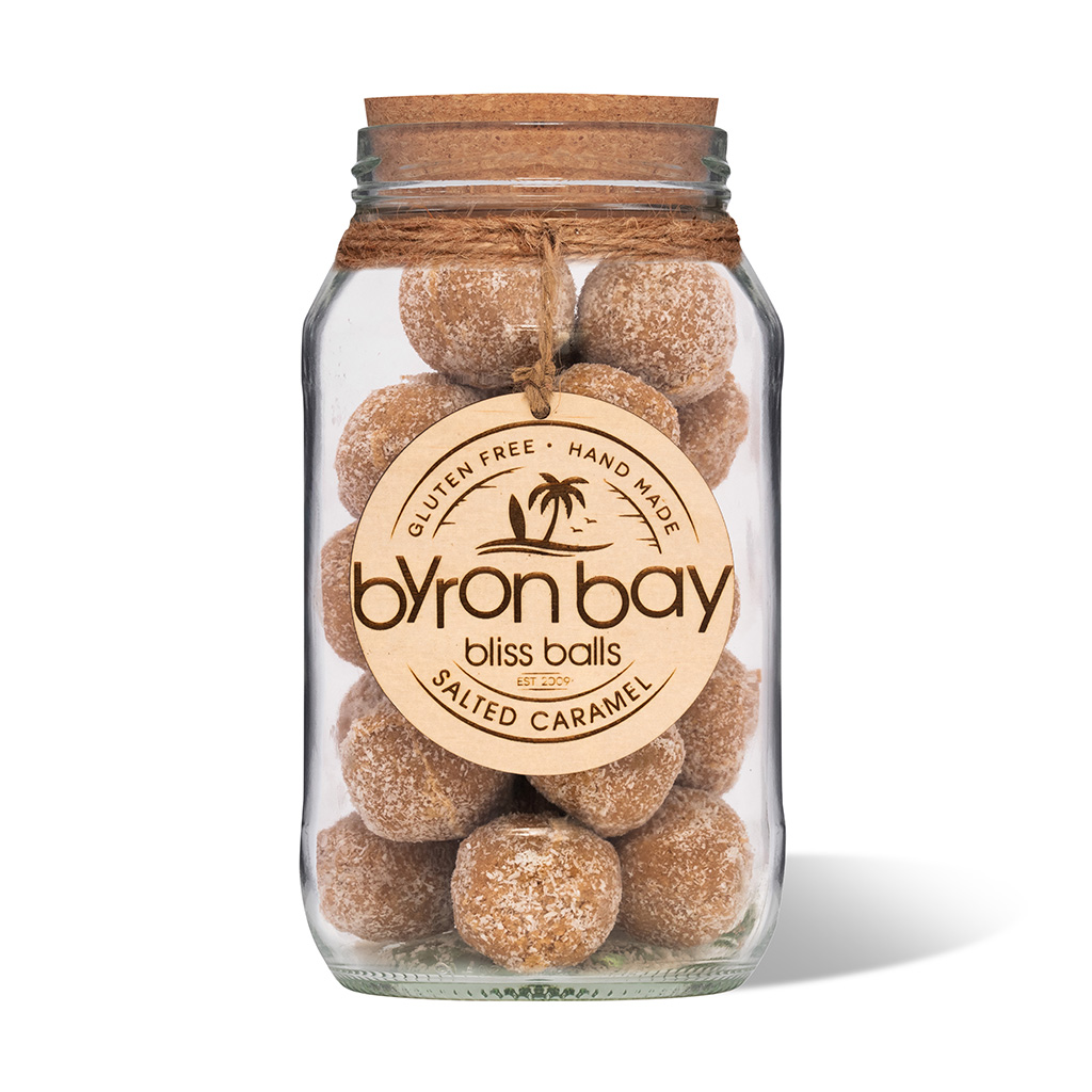 Byron Bay Bliss Balls Jar Salted Caramel